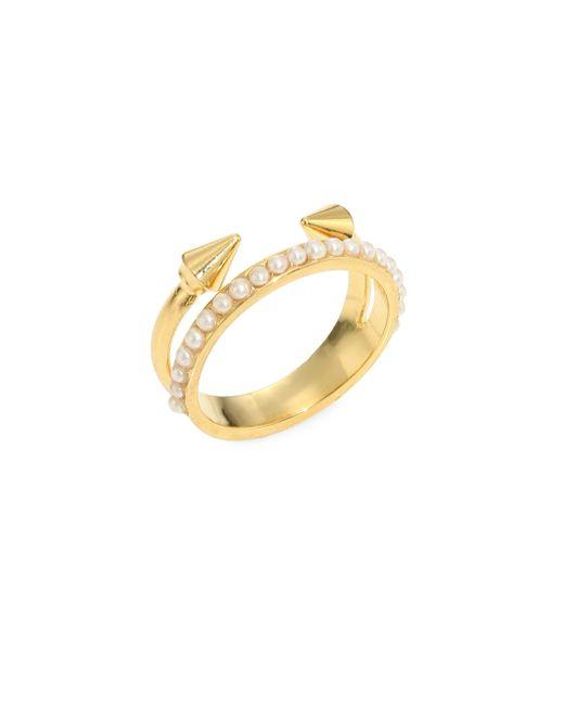 Vita Fede | Metallic Ultra Mini Titan Pearl Ring | Lyst