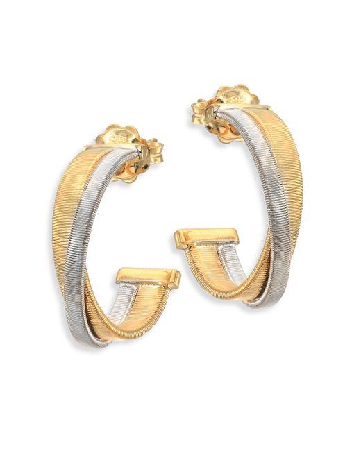 Marco Bicego - Metallic Masai 18k White & Yellow Gold Hoop Earrings/0.75 - Lyst