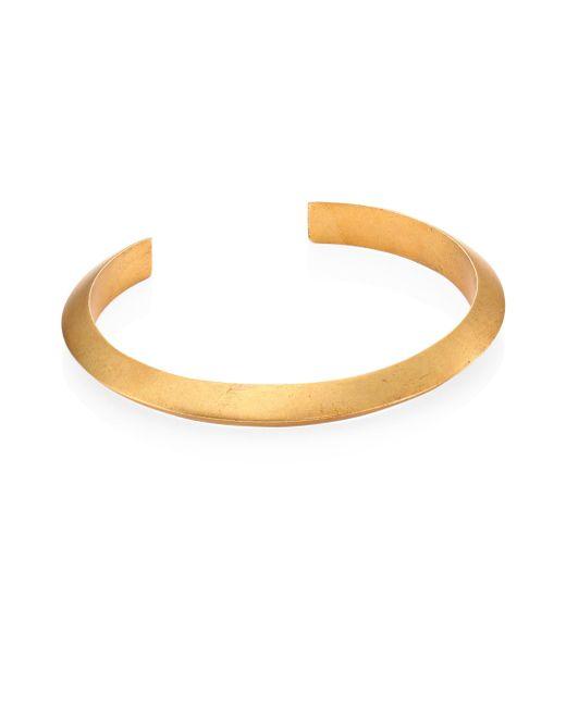 Miansai | Metallic Brushed Bell Cuff Bracelet | Lyst