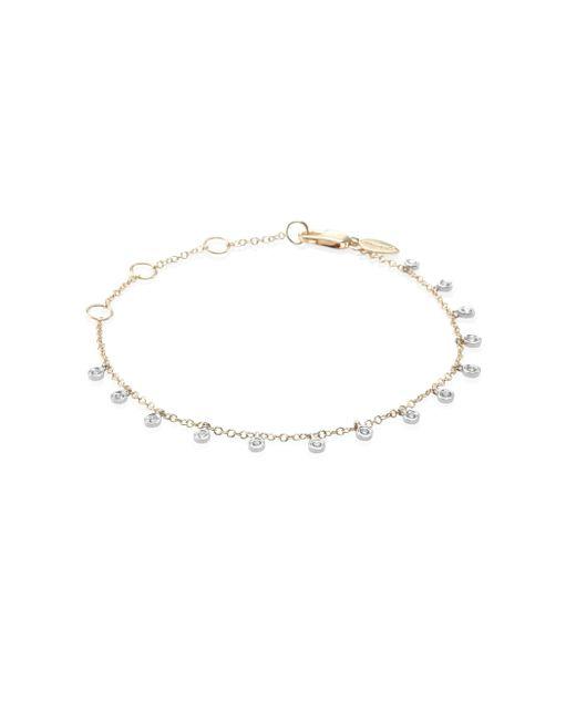 Meira T - Metallic Diamond & 14k Two-tone Gold Dangle Bracelet - Lyst