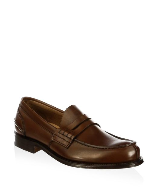 Church's - Brown Pembrey Leather Penny Loafers for Men - Lyst