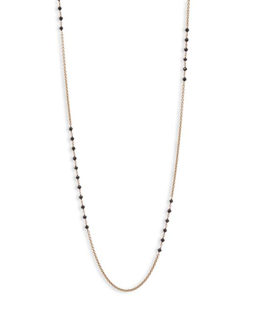 Etho Maria | Metallic Leyla 18k Rose Gold 6.51 Tcw Black Diamond Necklace | Lyst