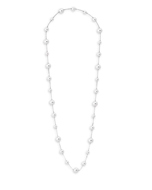 Majorica | White Illusion Handcrafted Pearl Strand Necklace | Lyst