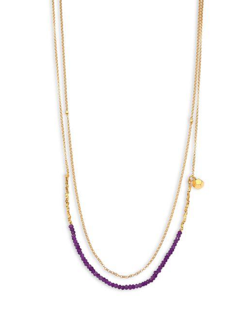 Astley Clarke | Metallic Biography Amethyst Beaded Double-strand Necklace | Lyst