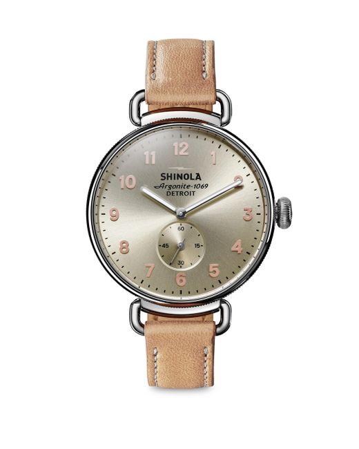 Shinola - Brown Stainless Steel & Alligator Strap Watch - Lyst