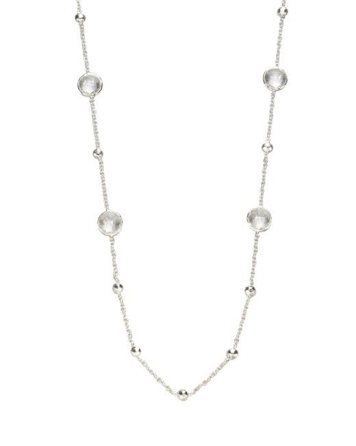 Ippolita | Metallic Clear Quartz Sterling Silver Station Necklace | Lyst
