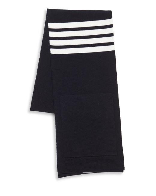 Thom Browne - Blue Milano Stitch Striped Scarf for Men - Lyst