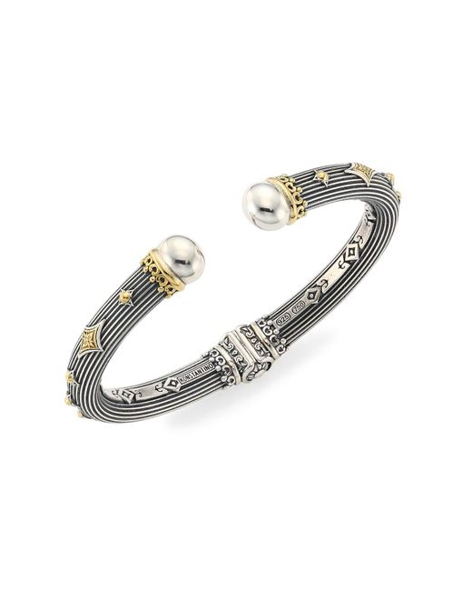 Konstantino Metallic Delos 18k Gold & Sterling Silver Hinge Bracelet