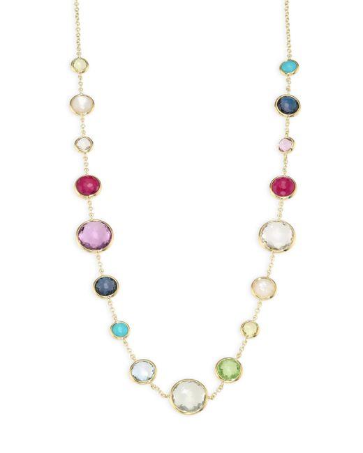 Ippolita - Metallic Multi Gemstone and 18k Yellow Gold Necklace - Lyst