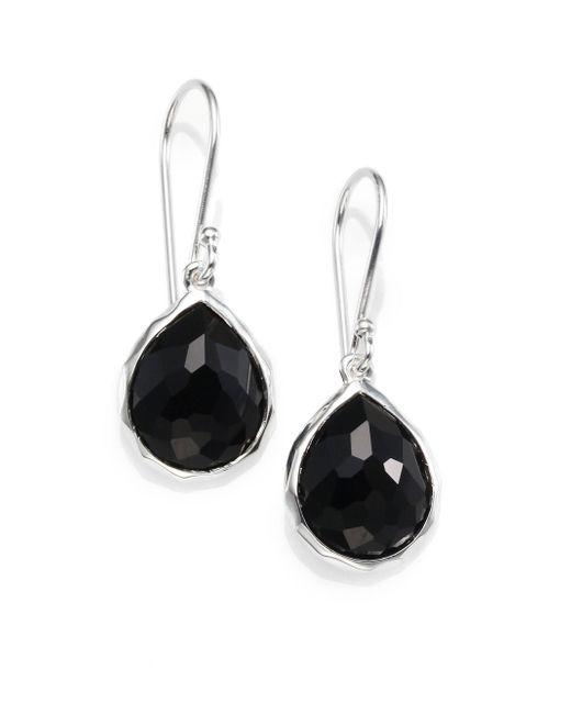 Ippolita - Metallic Black Onyx & Sterling Silver Earrings - Lyst