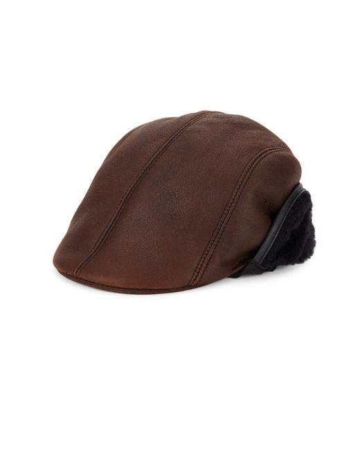 Crown Cap - Brown Shearling Duckbill Hat for Men - Lyst