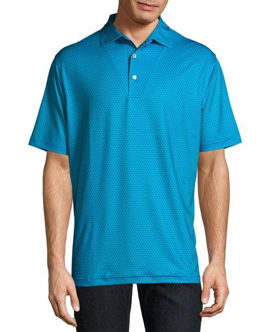 Lyst peter millar classic printed polo shirt in blue for men for Peter millar polo shirts