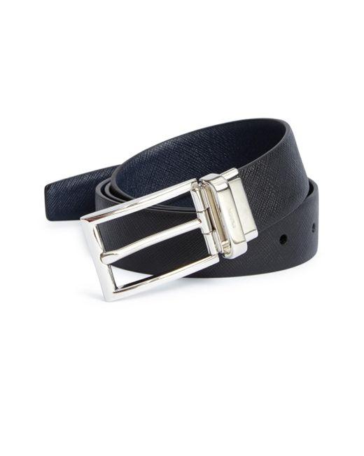Prada   Black Reversible Leather Belt for Men   Lyst