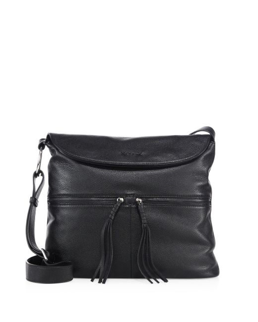 Elizabeth and James | Black Cynnie Flap Leather Crossbody Bag | Lyst