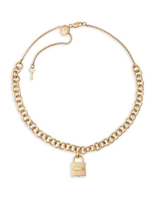 Michael Kors | Metallic Hamilton Padlock Necklace | Lyst