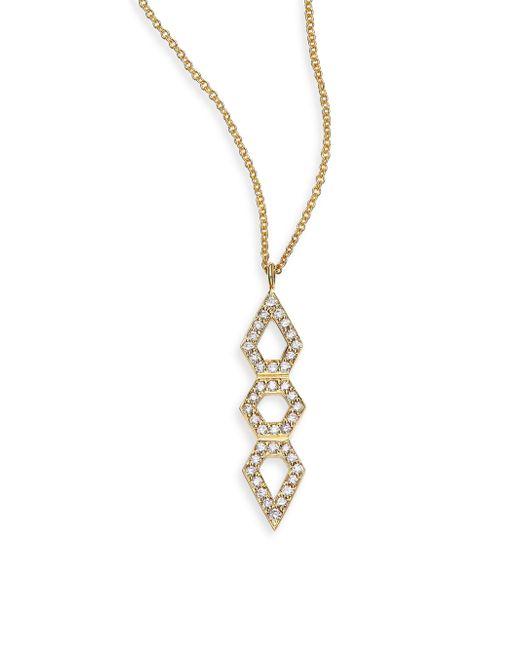 Ron Hami - Metallic Orighami Pave Diamond & 18k Yellow Gold Totem Pendant Necklace - Lyst
