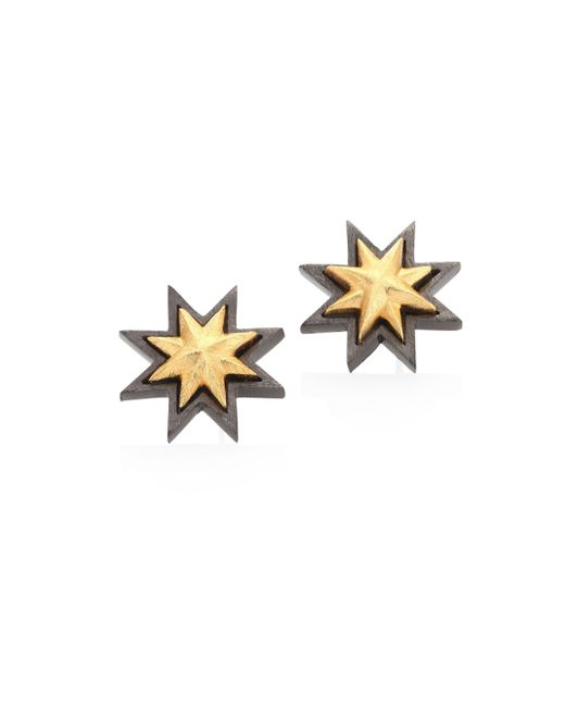 Stephanie Kantis | Metallic Two-tone Geometric Drop Earrings | Lyst