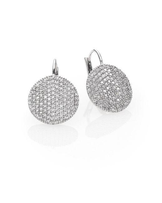 Phillips House - Affair Diamond & 14k White Gold Infinity Leverback Earrings - Lyst