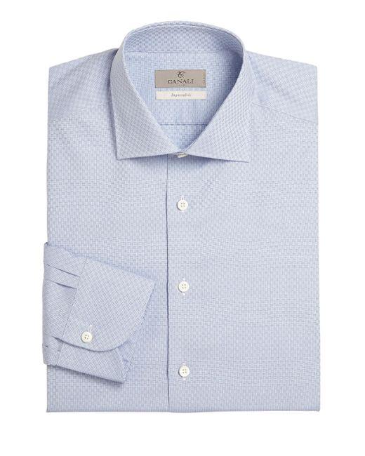 Canali   Blue Slim-fit Dress Shirt for Men   Lyst