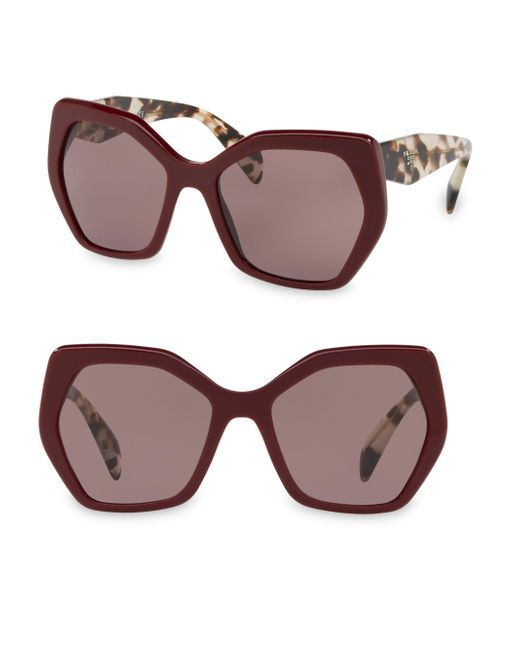 Prada - Gray 56mmtinted Tortoise Sunglasses - Lyst