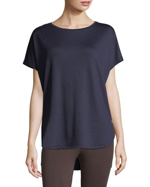 Natori - Blue Zen Terry Short Sleeve Top - Lyst