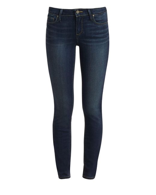PAIGE Blue Transcend Verdugo Skinny Ankle Jeans