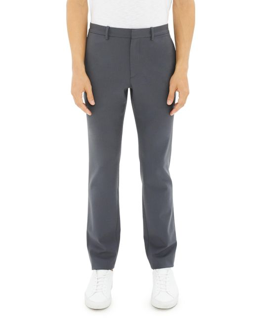 Theory - Gray Zaine Stretch Wool Trousers for Men - Lyst