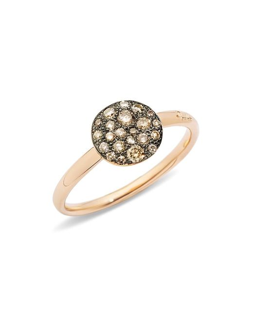 Pomellato Pink Sabbia Ring With Diamonds In Burnished 18k Rose Gold