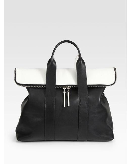 3.1 Phillip Lim | Black 31 Hour Colorblock Bag | Lyst