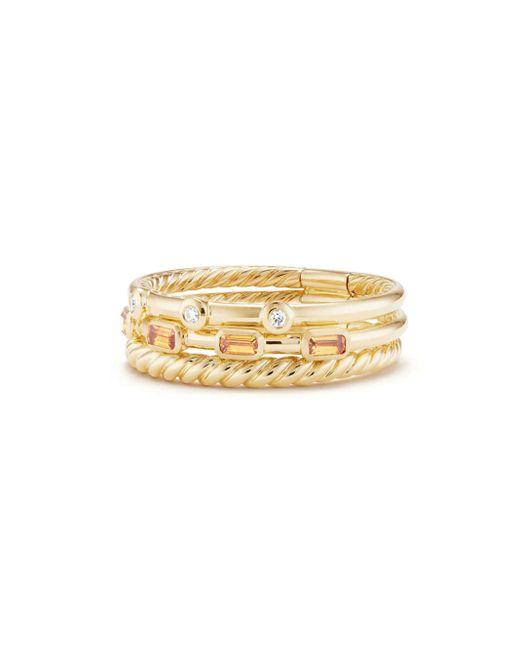 David Yurman - Metallic Novella Three-row Gemstone & Diamond Ring - Lyst