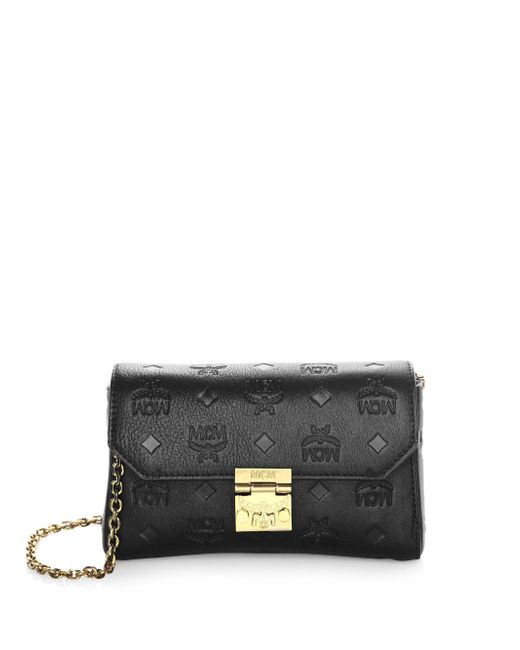 MCM - Black Millie Leather Clutch - Lyst