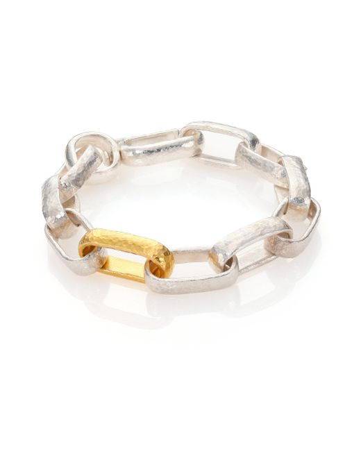 Gurhan - Metallic Hoopla 24k Yellow Gold & Sterling Silver Geometric Link Bracelet - Lyst