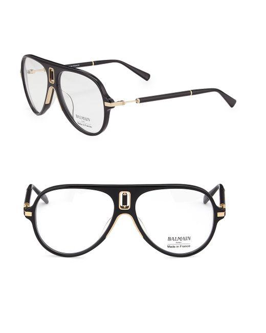 Balmain - Black 61mm Acetate Aviator Optical Glasses for Men - Lyst