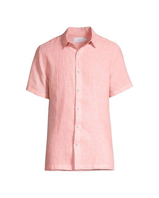 Onia Pink Samuel Linen Shirt for men