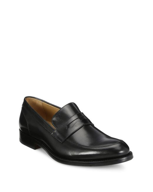 Saks Fifth Avenue - Black Collection Leather Penny Loafers for Men - Lyst
