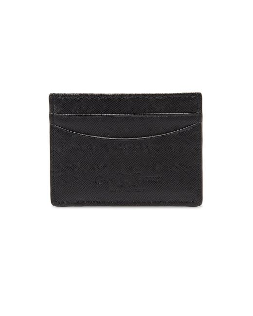 Saks Fifth Avenue | Black Leather Card Case for Men | Lyst