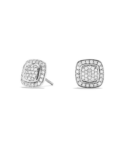 David Yurman Metallic 'albion' Earrings With Diamonds