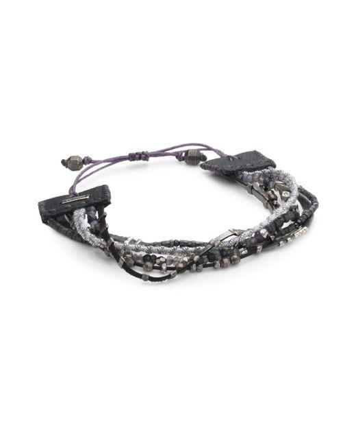 Chan Luu | Multicolor Gunmetal Mix Adjustable Bracelet | Lyst