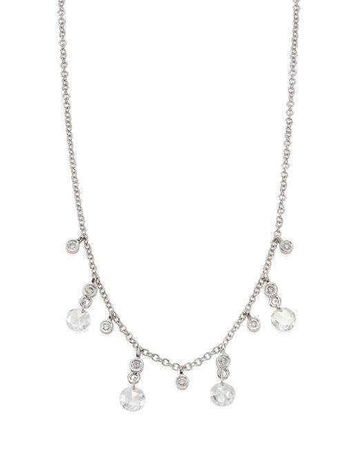 Meira T | Metallic Diamond & 14k White Gold Necklace | Lyst