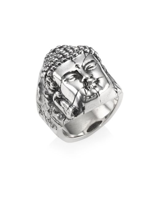 King Baby Studio - Metallic Sterling Silver Temple Ruin Buddha Ring - Lyst
