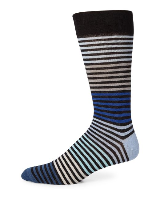 Saks Fifth Avenue   Blue Multi-tonal Striped Socks for Men   Lyst