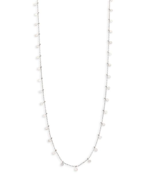Sia Taylor | Metallic Dots Sterling Silver Long Necklace | Lyst