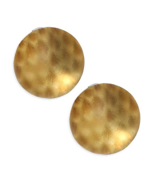 Alexis Bittar | Metallic Lucite Medium Dome Clip-on Earrings | Lyst