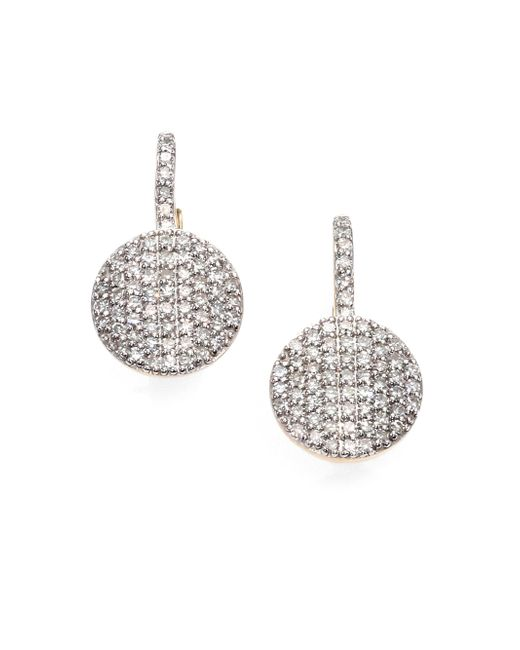 Phillips House - Metallic Pave Diamond & 14k Yellow Gold Petite Infinity Drop Earrings - Lyst
