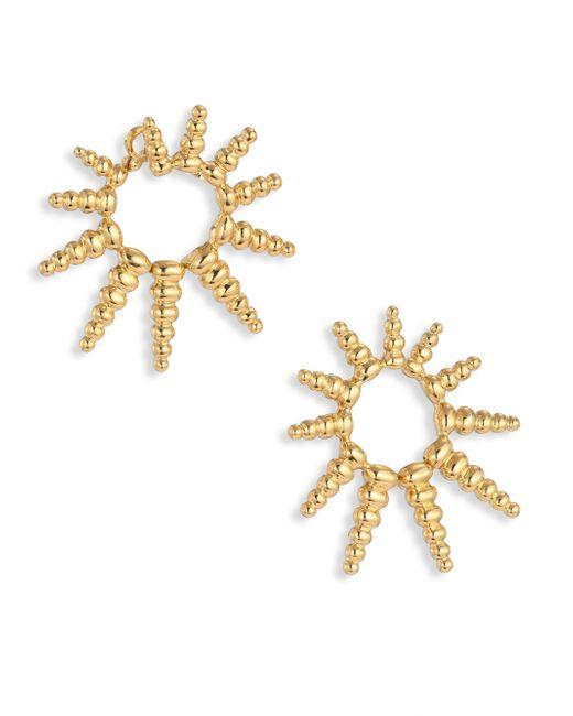 Nikos Koulis | Metallic Gold Starburst Earrings | Lyst