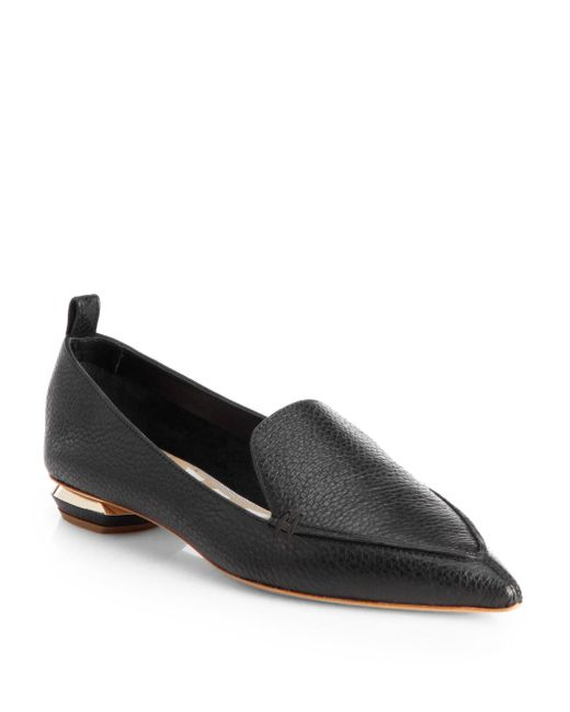 Nicholas Kirkwood Purple Beya Leather Loafers