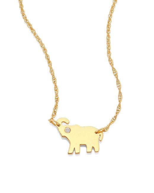 Jennifer Zeuner - Metallic Erin Elephant Diamond Pendant Necklace - Lyst
