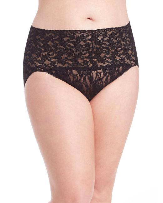 Hanky Panky - Black Plus Size Retro Lace V-kini Panty - Lyst