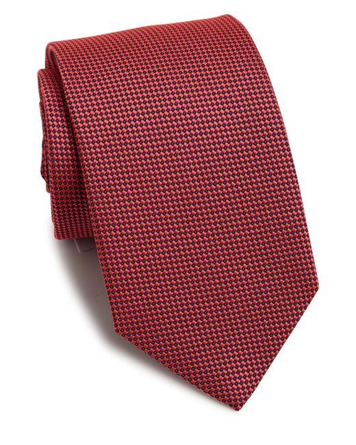 Eton of Sweden - Men's Textured Silk Tie - Burgundy for Men - Lyst