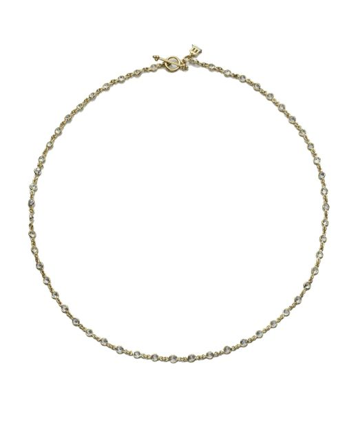 Temple St. Clair - Metallic Classic White Sapphire & 18k Yellow Gold Station Necklace - Lyst